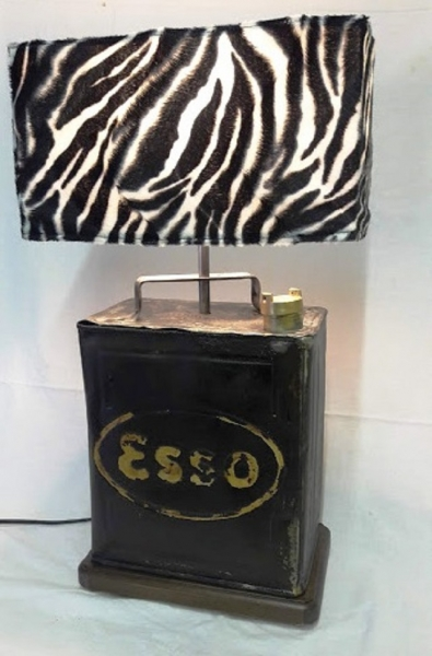 20 30er Jahre Benzinkanister als Lampe Euro 580 inkl