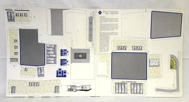 50er jahre Aral Papierbastelbogen Euro 14 inkl