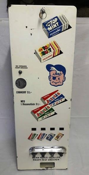 Bazooka Automat 60er voll funktionstüchtig ohne Kaugummi Euro 660 inkl